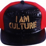 Black | Red | Gold Snapback [Top View]