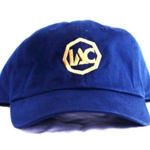 Navy Blue | Gold Baseball Cap [Front View]