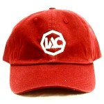 Burgundy | White Baseball Cap [Front View]