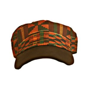 Kente Fabric Baseball Cap [Front View]